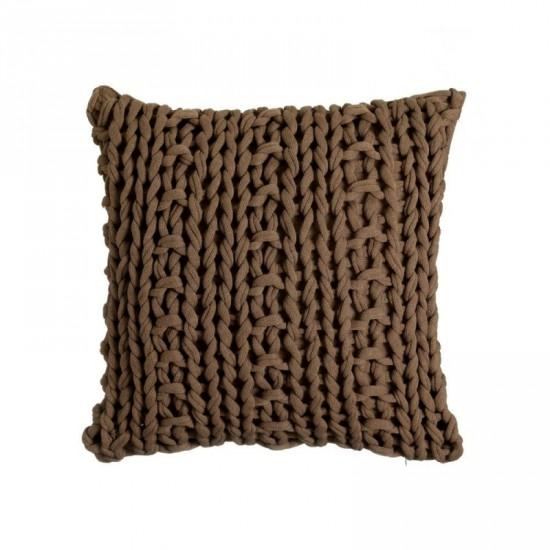 "Cojín crochet ""firenze"" marrón 45 x 45 cm"