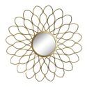 Espejo hierro color oro envejecido 97 x 97 cm
