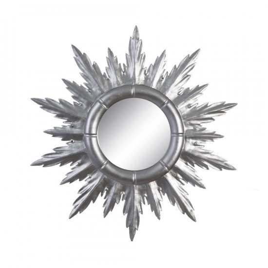 Espejo sol radiante color plata 50 x 50