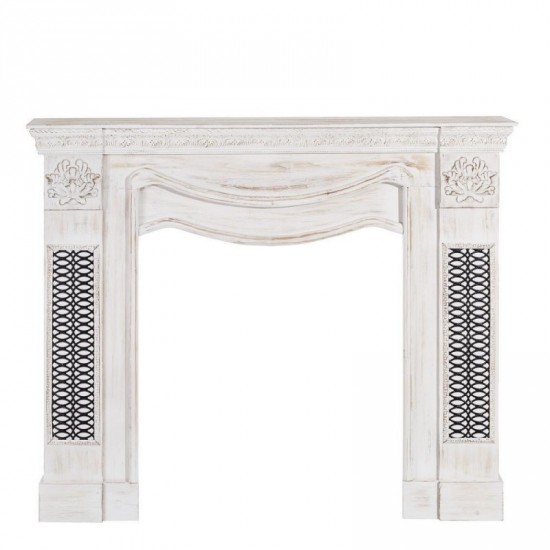 Chimenea blanco rozado envejecido 122 x 102 cm