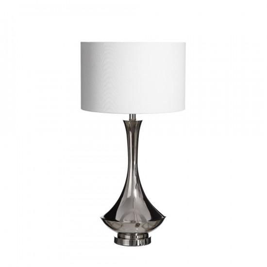 Lámpara de sobremesa de metal en color plata 70cm