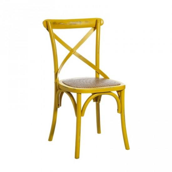 """Silla madera """"petti"""" amarillo"""