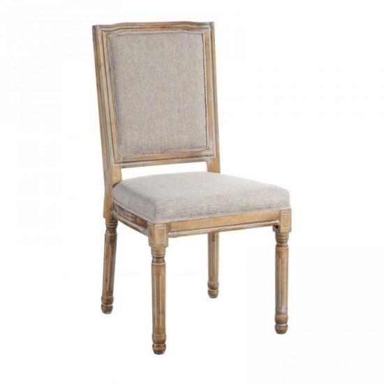 """Silla madera-tejido """"khali"""" beige"""