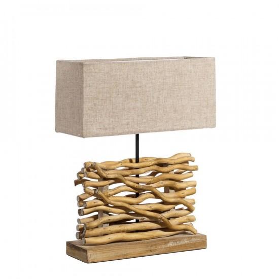 """Lámpara mesa madera """"ozzak"""" 52 cm"""