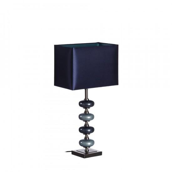 Lámpara de sobremesa de cristal en color azul 60cm
