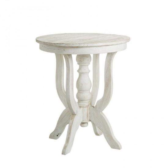 "Mesa auxiliar ""odiri"" blanco rozado 70 cm"