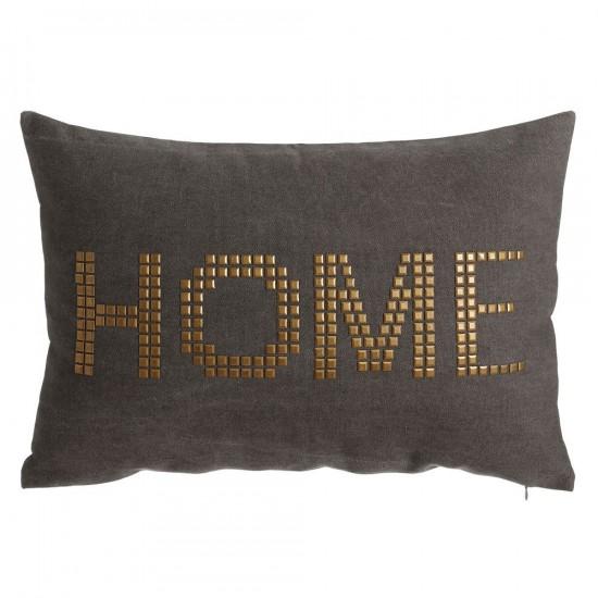 "Cojín ""home"" gris 40 x 60 cm"