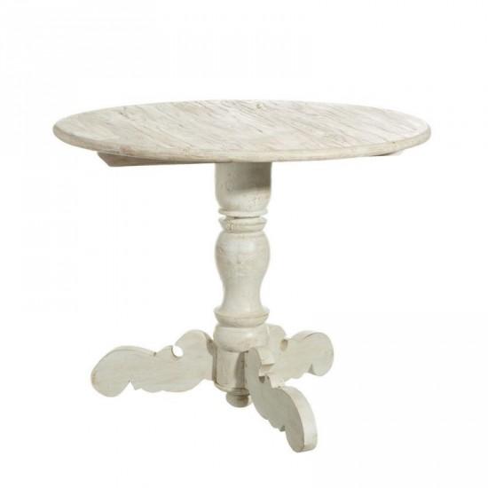 """Mesa comedor """"odiri"""" blanco rozado 90 cm"""