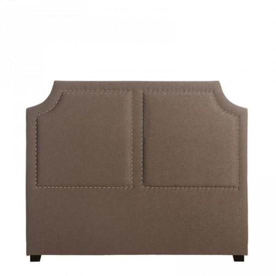 Cabecero madera-tejido gris 160 x 130 cm