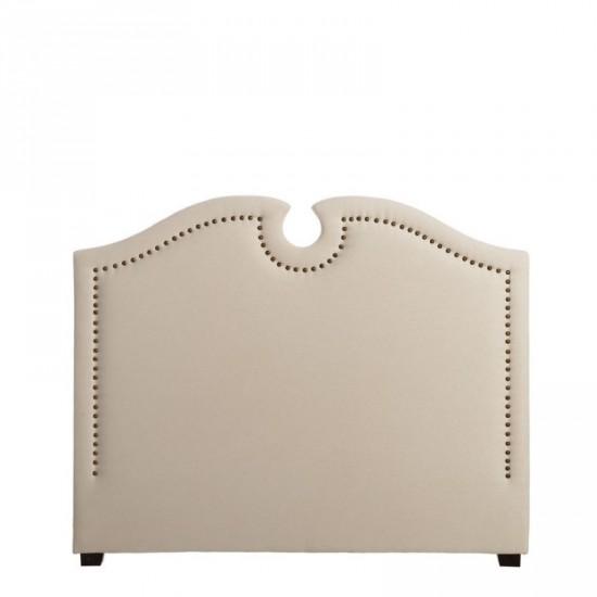 Cabecero tejido-madera crema 160 x 130 cm