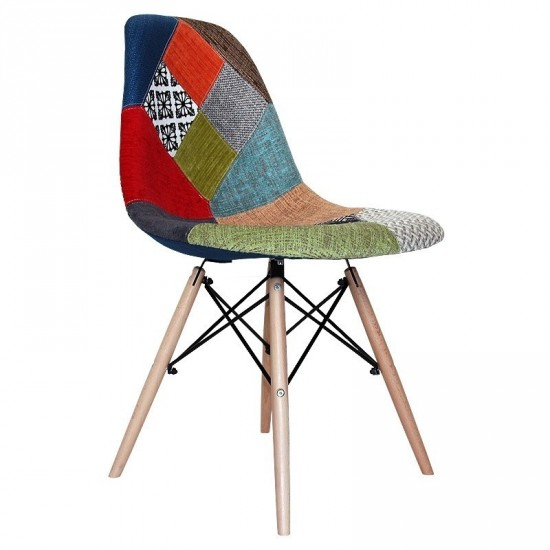 "Silla ""eames"" patchwork"
