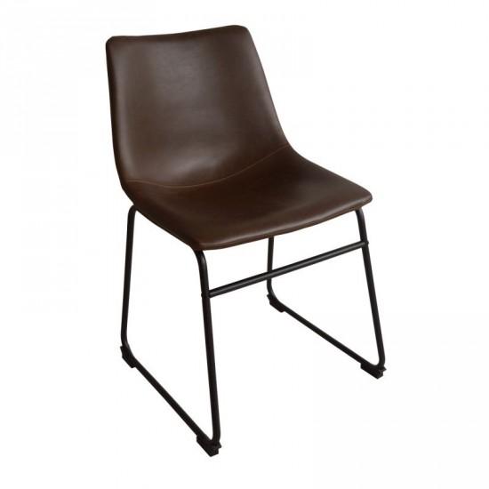 """Silla """"dover"""" marrón vintage"""