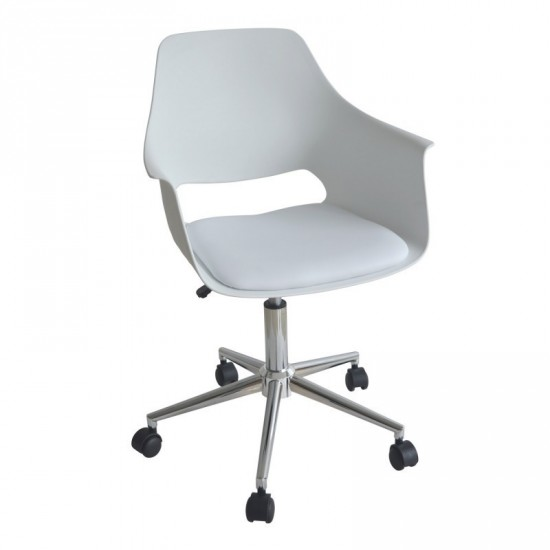 silla ruedas khal blanca oficina ibele home On sillas oficina blancas ruedas