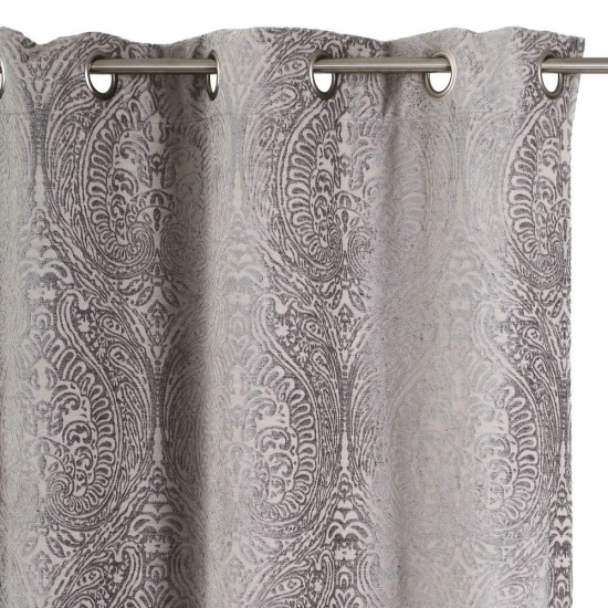 """Cortina """"supreme"""" gris y crema 140 x 260 cm"""