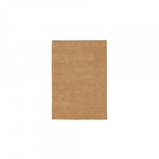Alfombra de yute-algodón color natural 120 x 180 cm