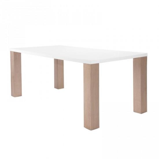 """Mesa """"matte"""" blanca 140 cm"""