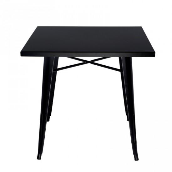 """Mesa """"volter"""" negra 80 cm"""