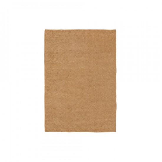 Alfombra de yute-algodón color natural 140 x 200 cm
