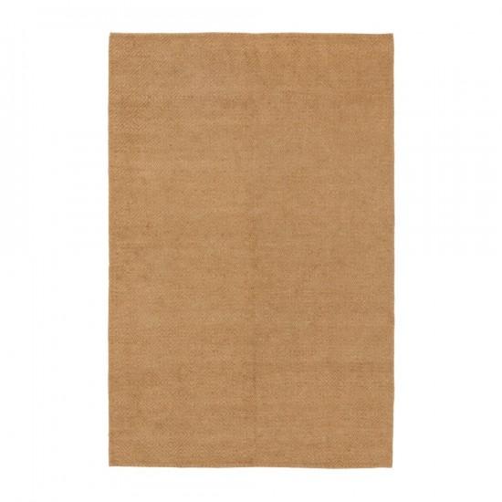 Alfombra de yute-algodón color natural 200 x 300 cm