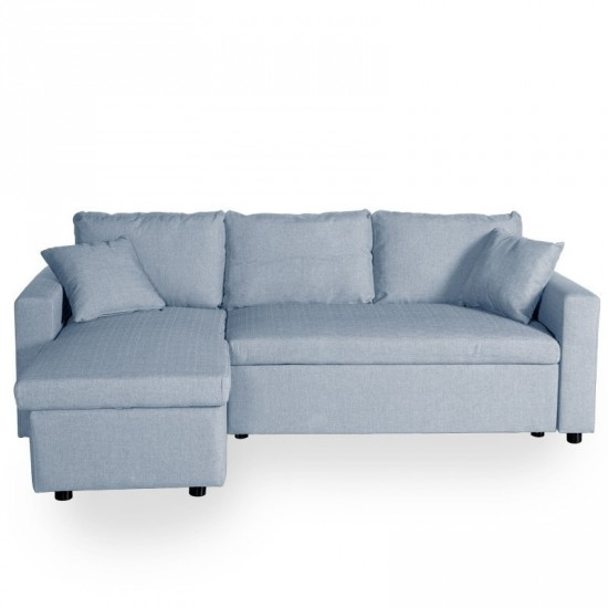 Sof cama chaise longue oslo azul ibele home for Sofa cama chaise longue