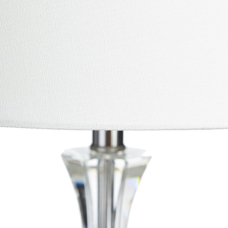 L mpara mesa cristal y lino 69 cm ibele home for Mesa cristal 90 cm