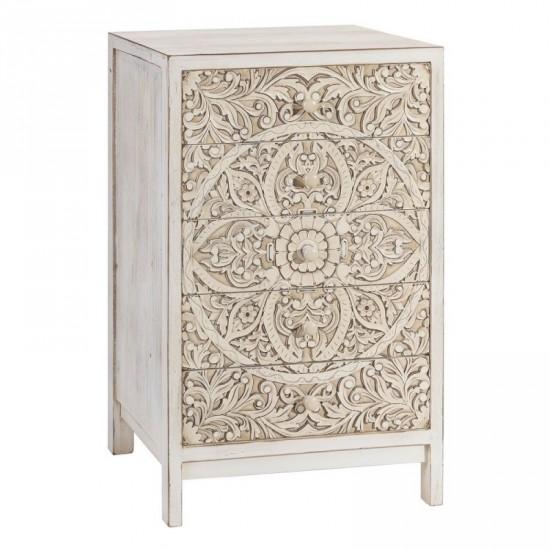 "Mueble talla ""asab"" crema rozado 55 x 89 cm"