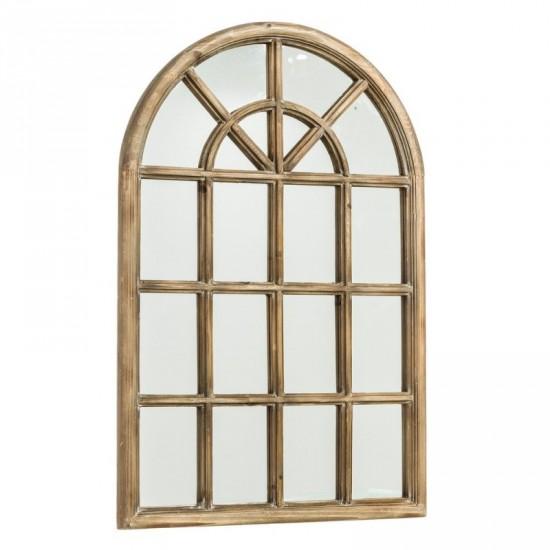 """Espejo ventana """"wooden"""" natural 61 x 91 cm"""