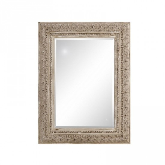 "Espejo madera ""arab"" crema 93 x 123 cm"