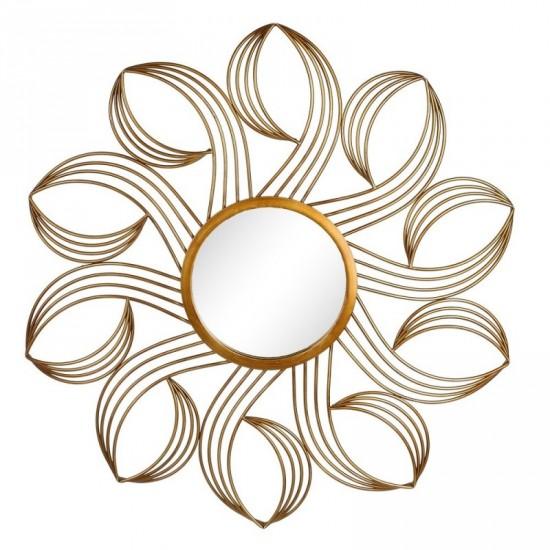 """Espejo metal """"blossom"""" oro 91,50 x 91,50 cm"""