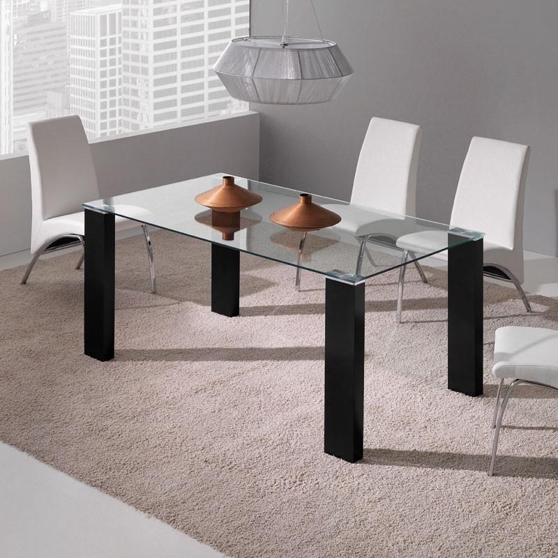 Mesa comedor negra perfect mesa de terraza para comedor Mesa comedor negra