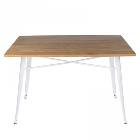 """Mesa """"volter"""" blanca 120 cm"""