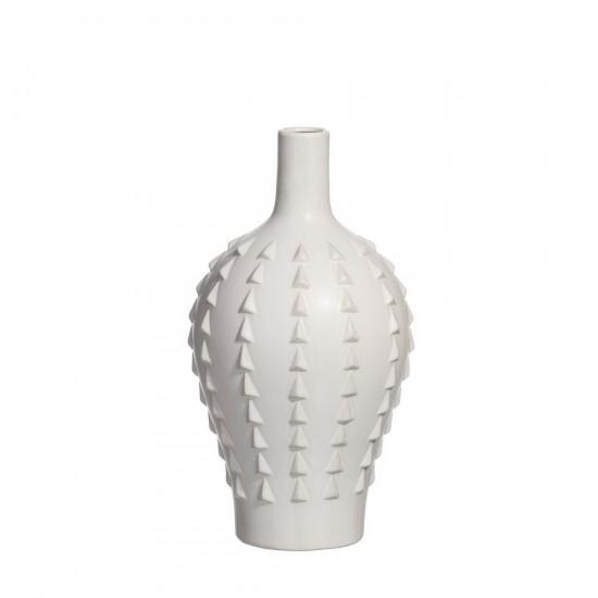 """Jarrón cerámica """"etur"""" blanco 34 cm"""