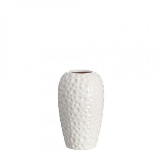 "Jarrón cerámica ""olene"" crema 25 cm"
