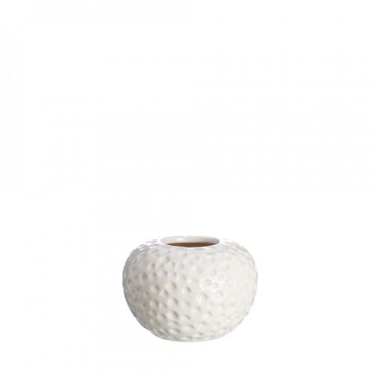 "Jarrón cerámica ""olene"" crema 13 cm"