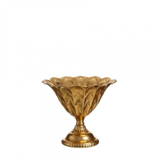 """Jarrón metal """"alora"""" oro 32 cm"""