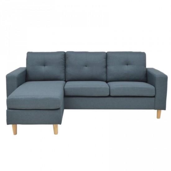 """Sofá chaise longue """"dissal"""" azul jeans"""