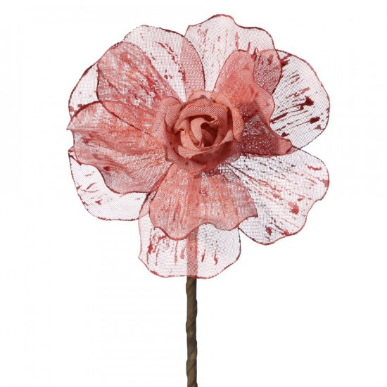 Flor color rosa de lino de 78 cm