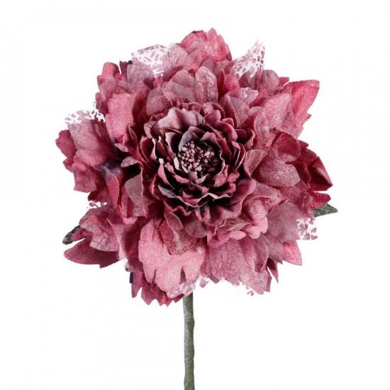 Flor dalia de color fucsia de 65 cm