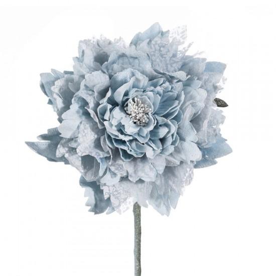 Flor dalia de color azul claro de 65 cm