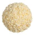 Bola grande de rosas color crema 30 cm