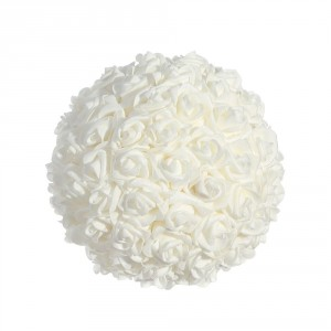 Bola mediana de rosas color blanco 20 cm